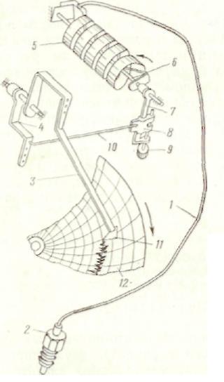 Схема манометра с винтовой